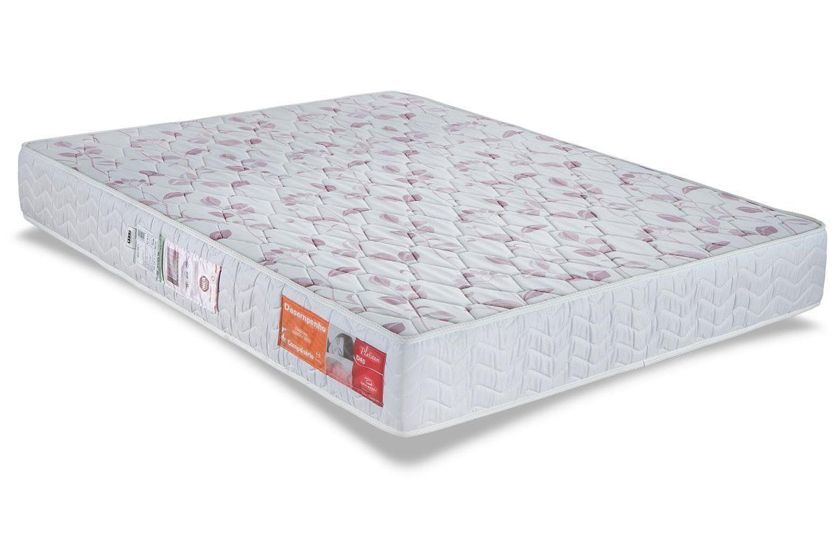 Colchão Orthocrin Espuma D45 PlatinumColchão Queen Size - 1,58x1,98x0,17 - Sem Cama Box