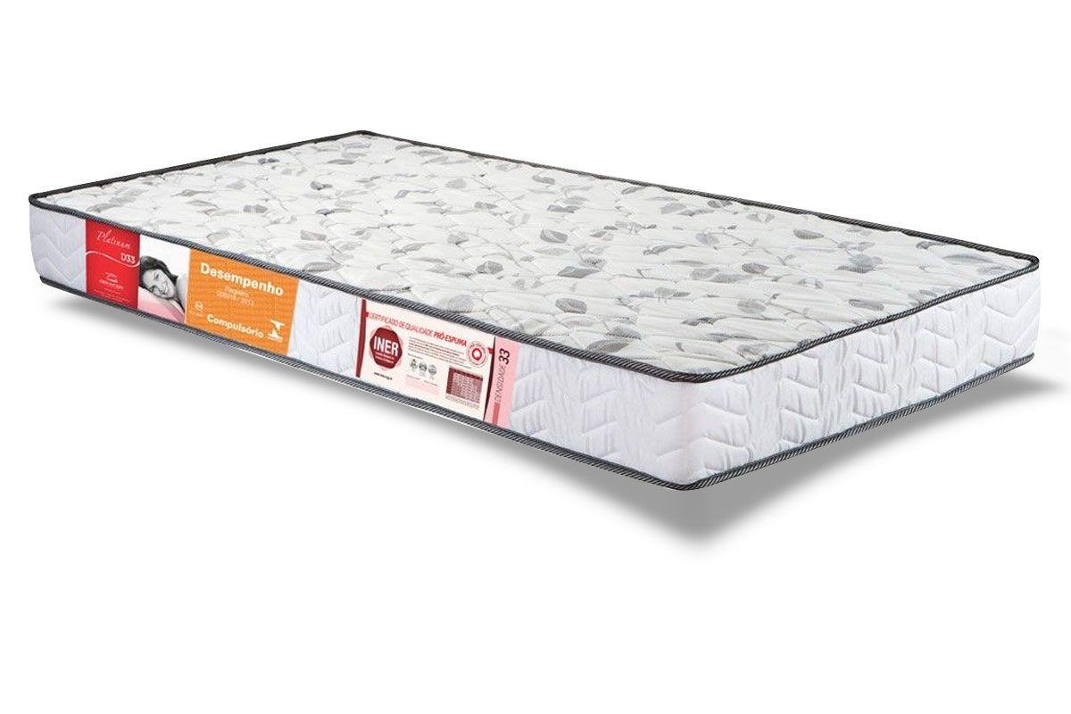 Colchão Orthocrin Espuma D33 PlatinumColchão Solteiro - 0,88x1,88x0,14 - Sem Cama Box