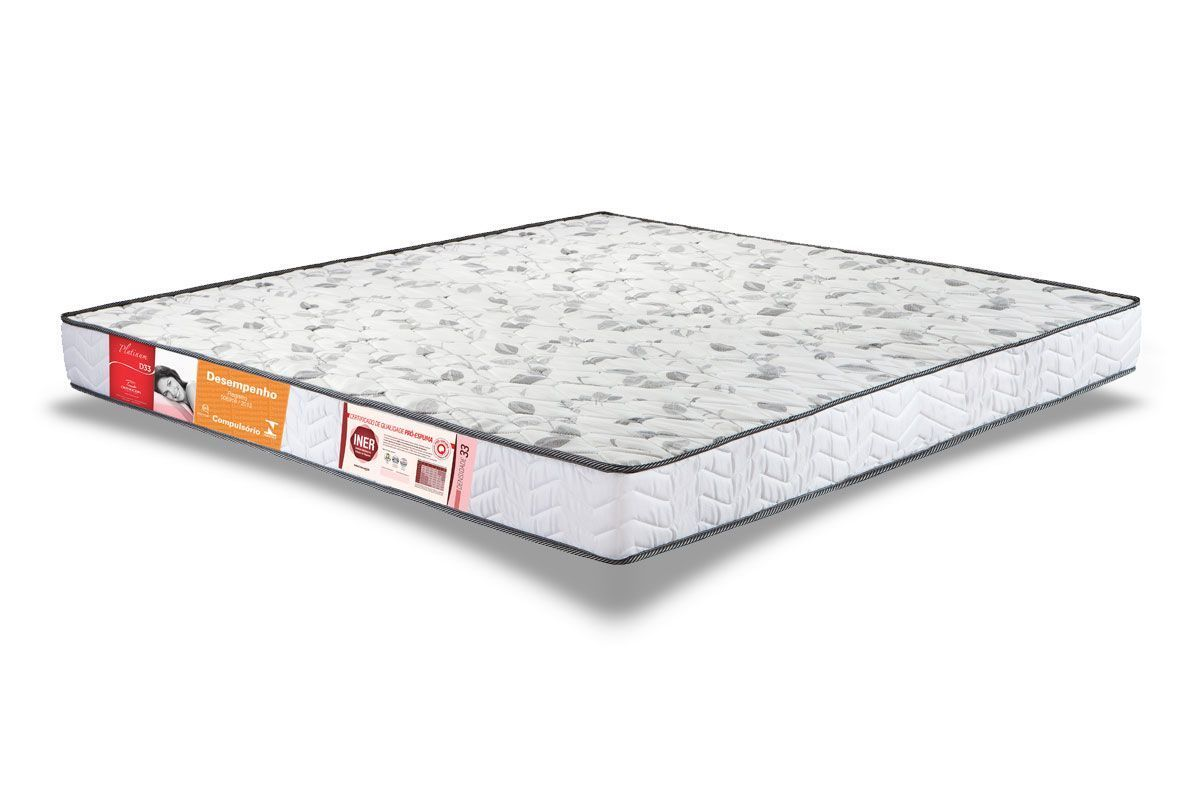 Colchão Orthocrin Espuma D33 PlatinumColchão Queen Size - 1,58x1,98x0,14 - Sem Cama Box