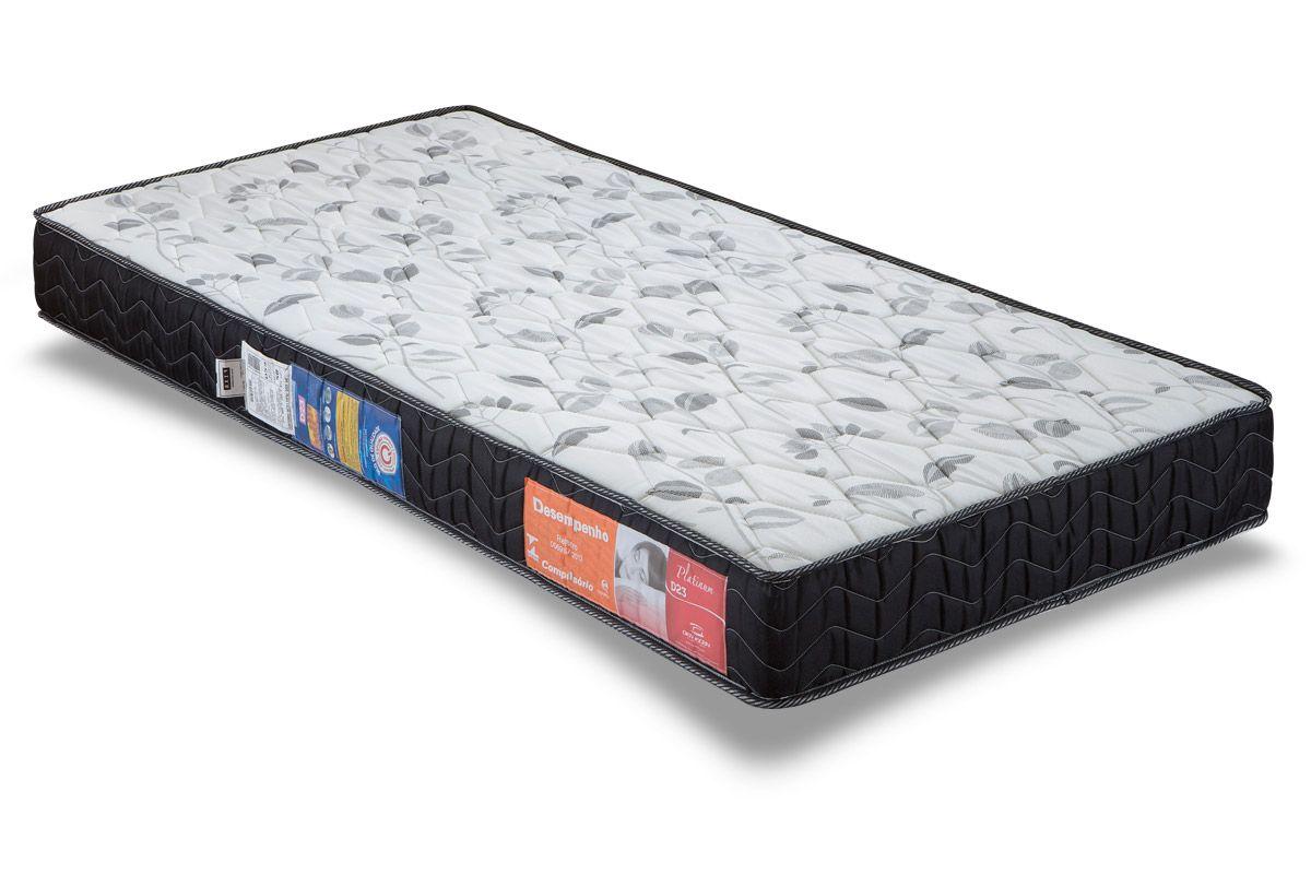 Colchão Orthocrin Espuma D23 Platinum BlackColchão Solteiro - 0,88x1,88x0,14 - Sem Cama Box