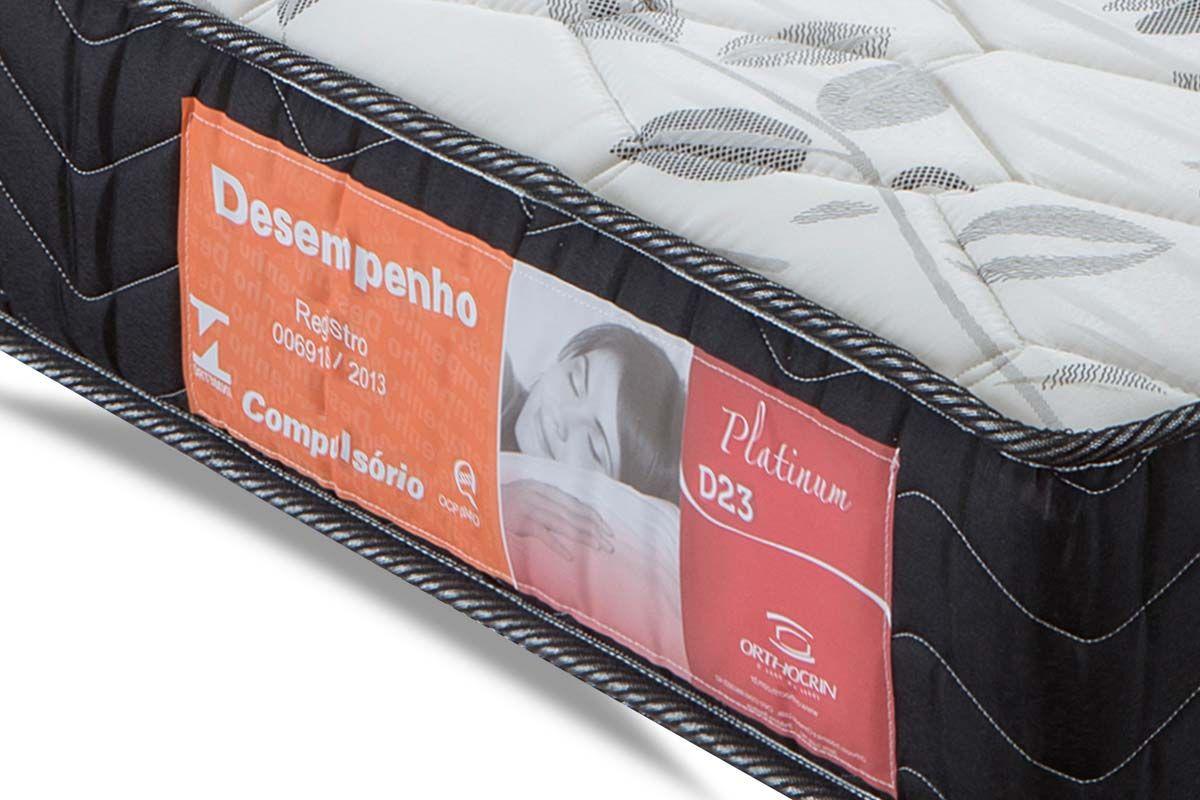 Colchão Orthocrin Espuma D23 Platinum Black