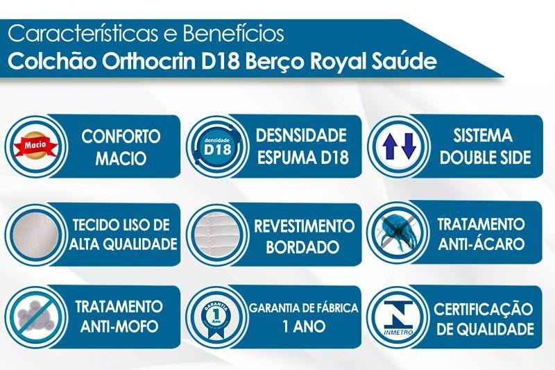 Colchão Orthocrin Berço Royal Saúde Selado