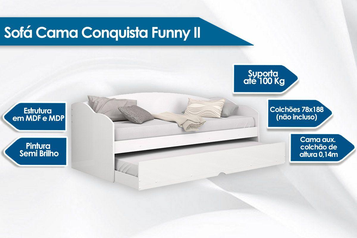 Sofá Cama Conquista Funny c/Auxiliar