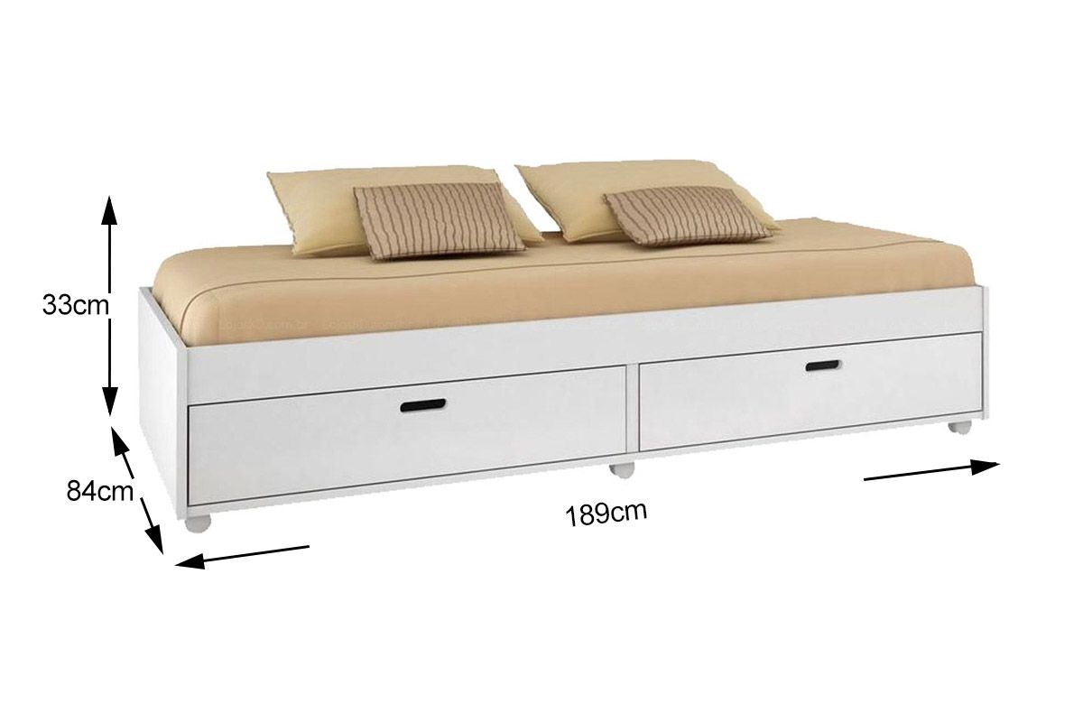 Sof cama conquista puff at 40 off for Medidas de sofa cama