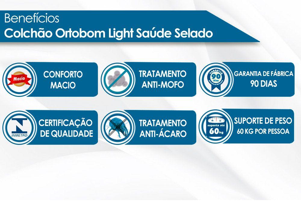Colchão Ortobom Light D23 Liso