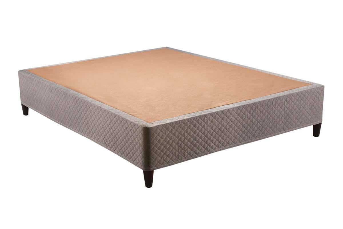 Cama Box Herval ClickBox Tecido MarromCama Box Queen Size - 1,58x1,98x0,28 - Sem Colchão