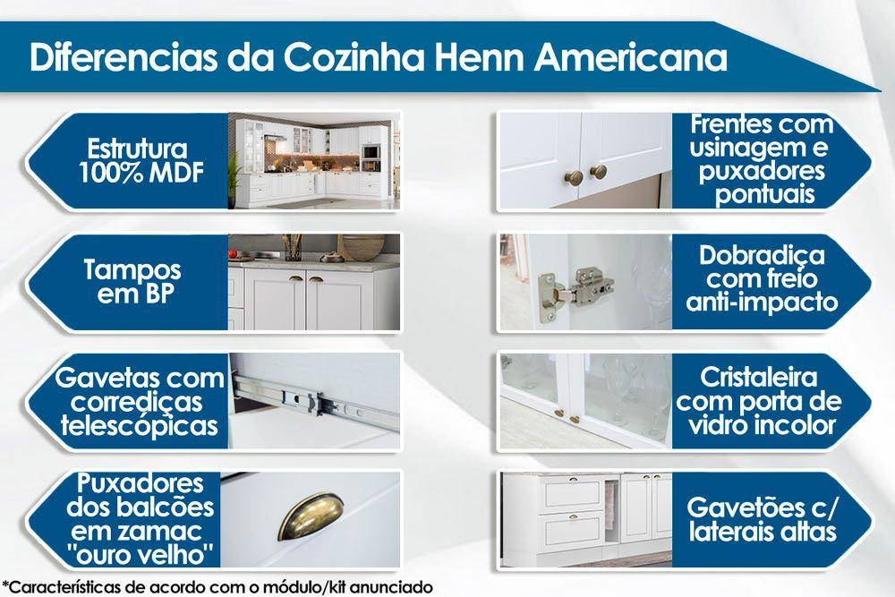 Gabinete (Balcão) Henn Americana 1 Porta 40cm s/ Tampo