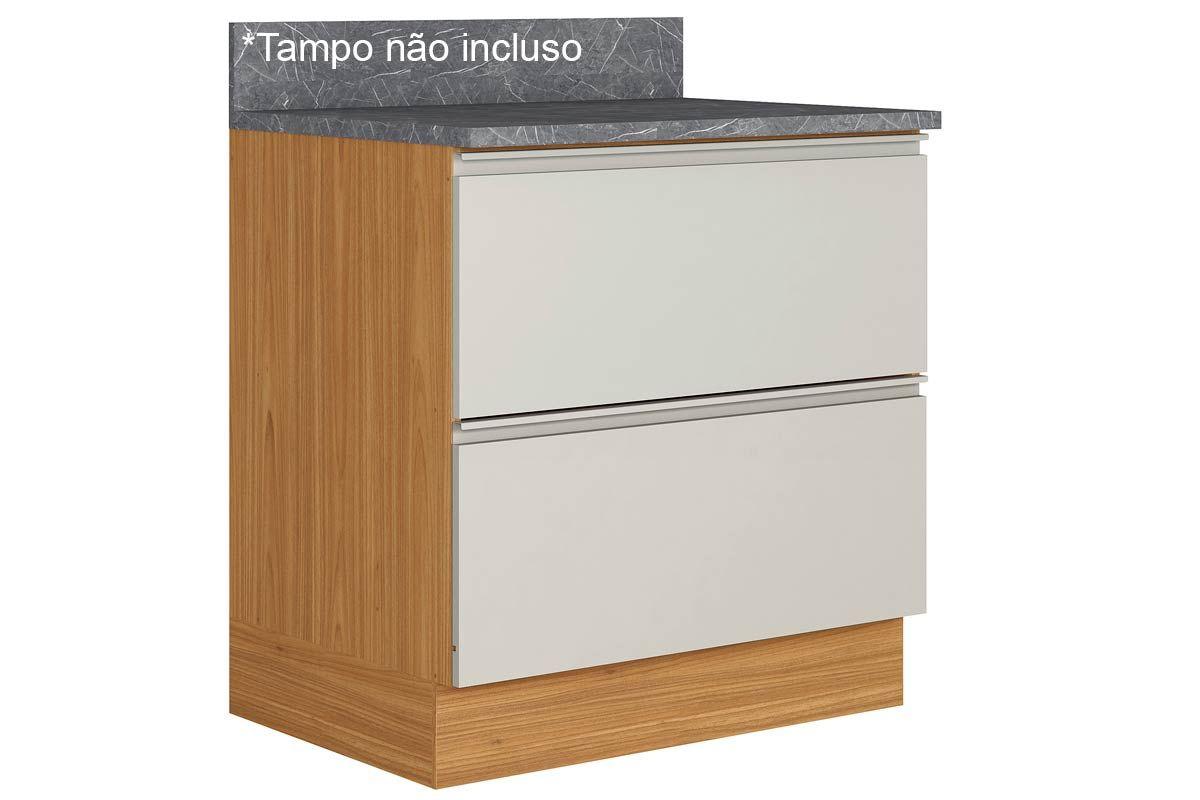 Gabinete de Cozinha Itatiaia Inova BALC 1PT HOR 1GV 80 ST 1 Porta e 1 Gaveta s/ TampoCor Off White