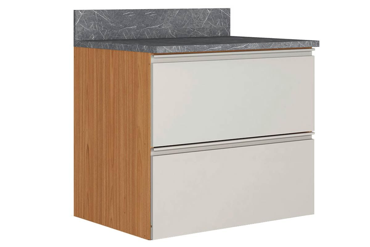 Gabinete de Cozinha Itatiaia Inova BALC 1PT HOR 1GV 80 SRP 1 Porta e 1 Gaveta s/RodapéCor Off White