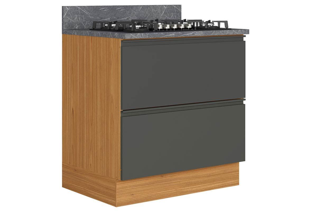 Gabinete de Cozinha Itatiaia Inova BALC-80 1PTH1G CRP/IT CZL CK4B 1 Porta e 1 GavetaCor Grafite