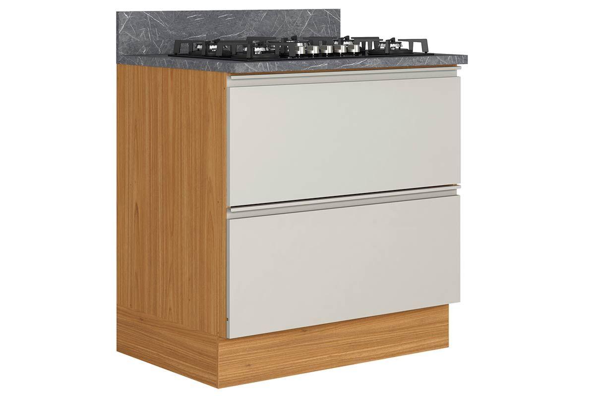 Gabinete de Cozinha Itatiaia Inova BALC-80 1PTH1G CRP/IT CZL CK5B 1 Porta e 1 GavetaCor Off White