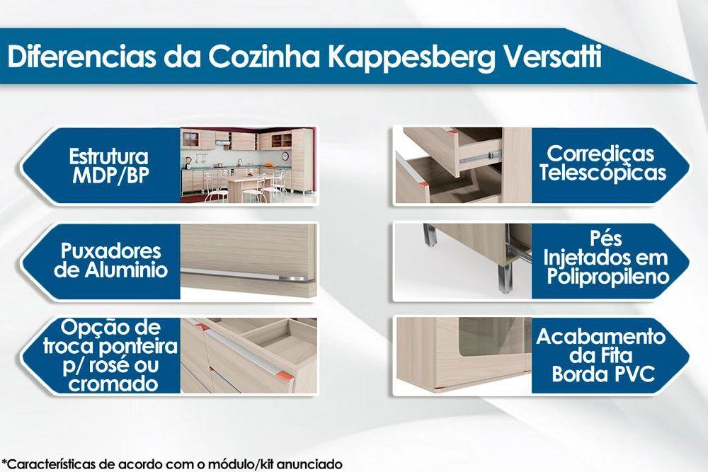 Paneleiro Modulado Kappesberg Versatti C646  3 Portas 70cm