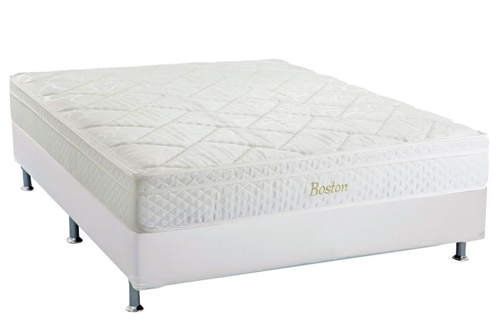 Conjunto Box - Colchão Herval Pocket Boston+Cama Box Bianco