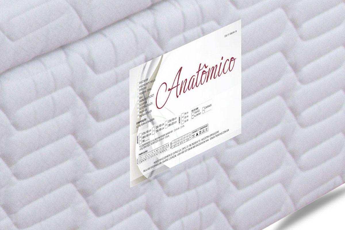 Cama Box Baú Paropas Tecido Branco