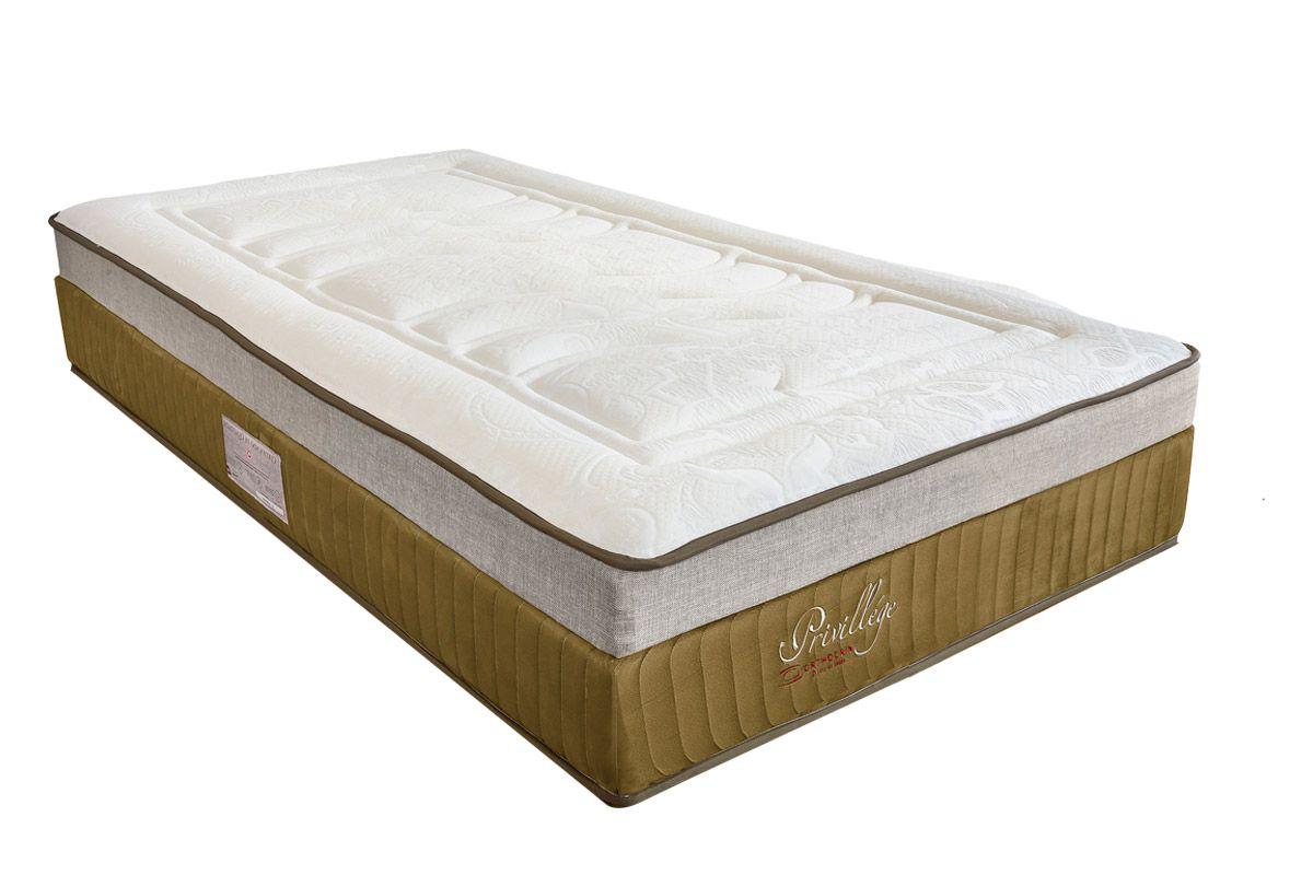 Colchão Orthocrin Molas Pocket PrivillegeColchão Solteiro - 0,88x1,88x0,36 Sem Cama Box