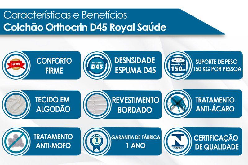 Colchão Orthocrin D45 Royal Saúde