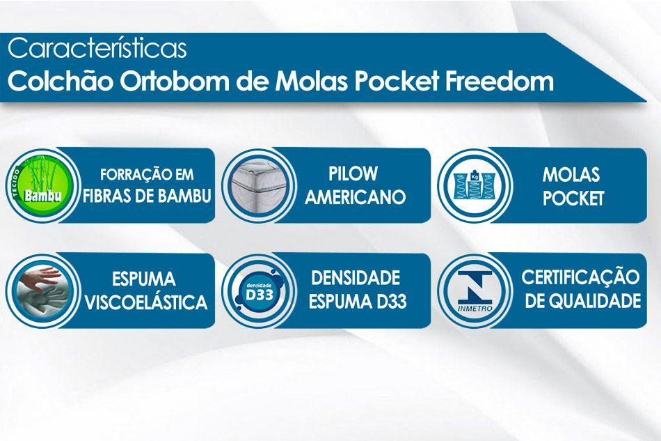 Colchão Ortobom SuperPocket Freedom