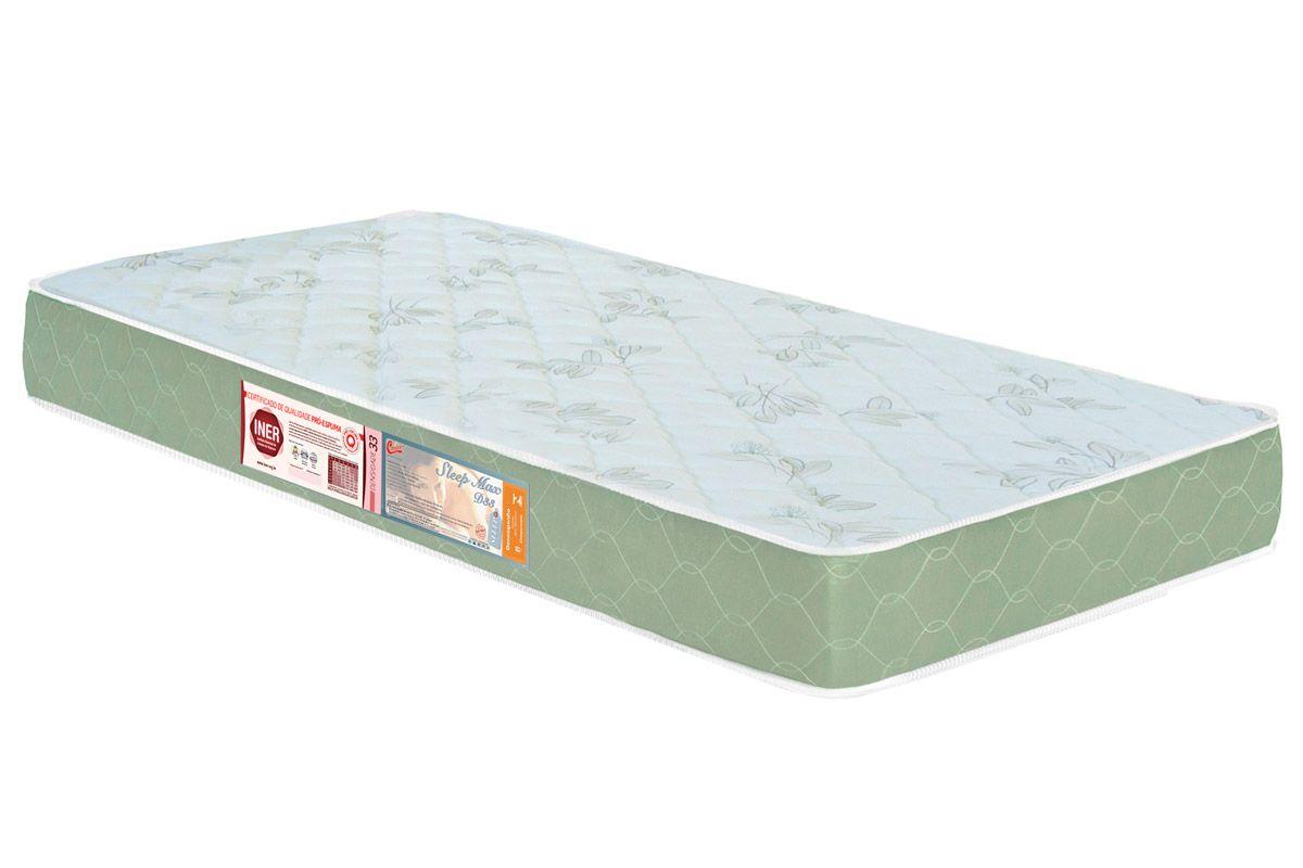 Colchão Castor D33 Sleep MaxColchão Solteiro - 0,78x1,88x0,18 - Sem Cama Box