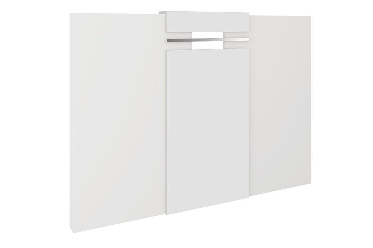 Painel Cama Box Casal/Queen Carraro Elegance - 1019 - Cor Branco Cor Branco