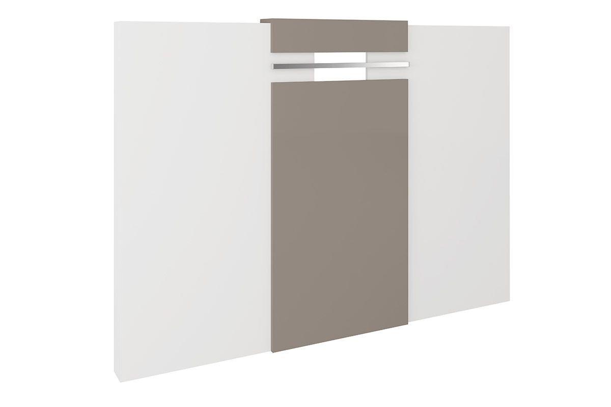 Painel Cabeceira Box Carraro Elegance - 1019 Cor Branco Cor Branco c/ Atacama