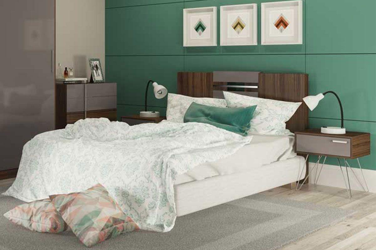 Painel Cama Box Casal/Queen Carraro Elegance - 1019 Cor Branco