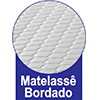 Colchão Ortobom de Espuma D33 ISO 100 Ultra  Firme -  Tipo de Bordado do Tecido de Revestimento