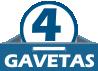 Balcão (Gabinete) de Cozinha Kappesberg Maxxi G746 Madeira 1 Porta + 4 Gavetas S/tampo 120cm -  Quantidade de Gavetas