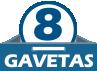 Cômoda Lopas Toronto New c/ 2 Portas e 8 Gavetas -  Quantidade de Gavetas