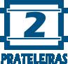 Prateleira Decorativa BRV BPL 21 -  Quantidade de Prateleiras
