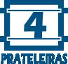 Paneleiro Kappesberg New Urban E731 2 Ptas -  Quantidade de Prateleiras