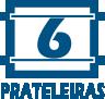 Guarda Roupa Kappesberg S736 c/ 6 Portas e 3 Gavetas -  Quantidade de Prateleiras