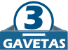 Roupeiro Herval Édez PH 1206 c/ 5 Ptas, 3 Gav -  Quantidade de Gavetas