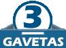 Beliche Santos Andirá Havana Plus 3 gavetas Cor Branco/Branco -  Quantidade de Gavetas
