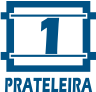 Painel Home Theater Linea Brasil Ipê -  Quantidade de Prateleiras