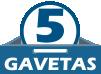 Cômoda Henn Flor de Lis 5 Gavetas -  Quantidade de Gavetas