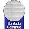 Colchão Ortobom Pocket Freedom -  Bordado do Tecido de Revestimento