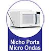 Armário Aéreo Art In Móveis Microondas CZ512 -  Diferenciais dos Nichos