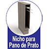 Nicho de Cozinha Itatiaia Belíssima Plus IGNV-15 Vertical c/ Toalheiro 15cm s/Tampo -  Diferenciais dos Nichos