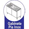 Gabinete (Balcão) de Cozinha Itatiaia Exclusive Aço BALC 2PT 120 PIA 2 Portas c/ Pia -  Características de móveis