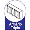 Armário Bertolini Evidence 4034 3 Pts -  Características de móveis