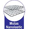 Colchão Ortobom Molas Nanolastic Light - Colchão Solteiro - 0,88x1,88x0,23 - Sem Cama Box -  Tipo de Estrutura de Molas
