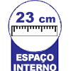 Cama Box Baú Castor Universal Branco -  Profundidade interna do Baú