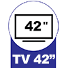Painel Home Theater Linea Brasil Capri p/ TV de até 42 -  Suporte para TV até
