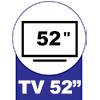 Painel para Rack Rufato Ibiza p/ TV até 52 -  Suporte para TV até