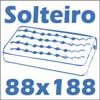 Cama Solteiro Lopas Belo Horizonte -  Tamanho do colchão para usar na cama
