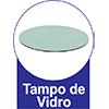 Mesa Cimol Ágata Base Madeira Tampo MDF c/ Vidro 130cm -  Vantagens Extras da mesa