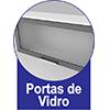 Armário Aéreo Modulado Kappesberg Nox H785 c/ Vidro 80cm -  Vantagens Extras d##generosessao##
