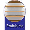 Home Theater Linea Brasil Aron p/ TV 55 Wood -  Vantagens Extras da estante