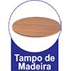 Sala de Jantar cimol Mesa Bárbara 136x80cm com 6 Cadeiras Bárbara -  Vantagens Extras d##generosessao##