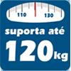Cama Box Base Tecido Branco Pés Tabaco -  Suporte de Peso